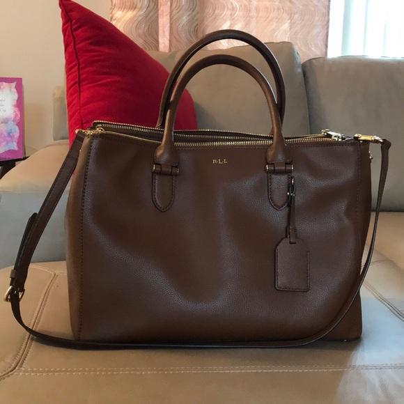 8bd62922f304 Lauren Ralph Lauren Handbags - Brown Lauren Ralph Lauren Newbury Satchel!